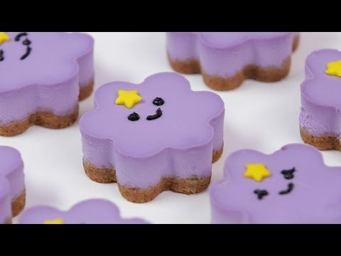 Click here to learn how to make Lumpy Space Princess mini cheesecakes! These would make great party treats for your child's Adventure Time themed birthday party!