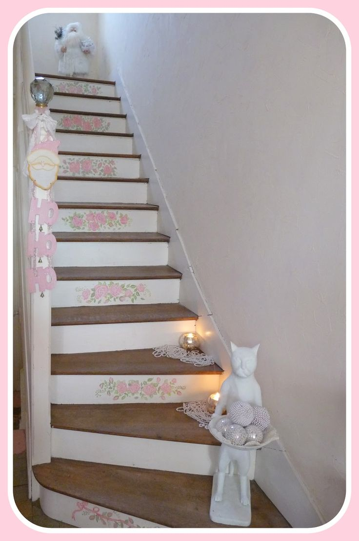 my shabby french life pink shabby rose hallway pinterest flur ideen treppe und. Black Bedroom Furniture Sets. Home Design Ideas