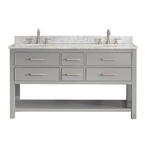 avanity modero chilled gray 60inch double vanity only