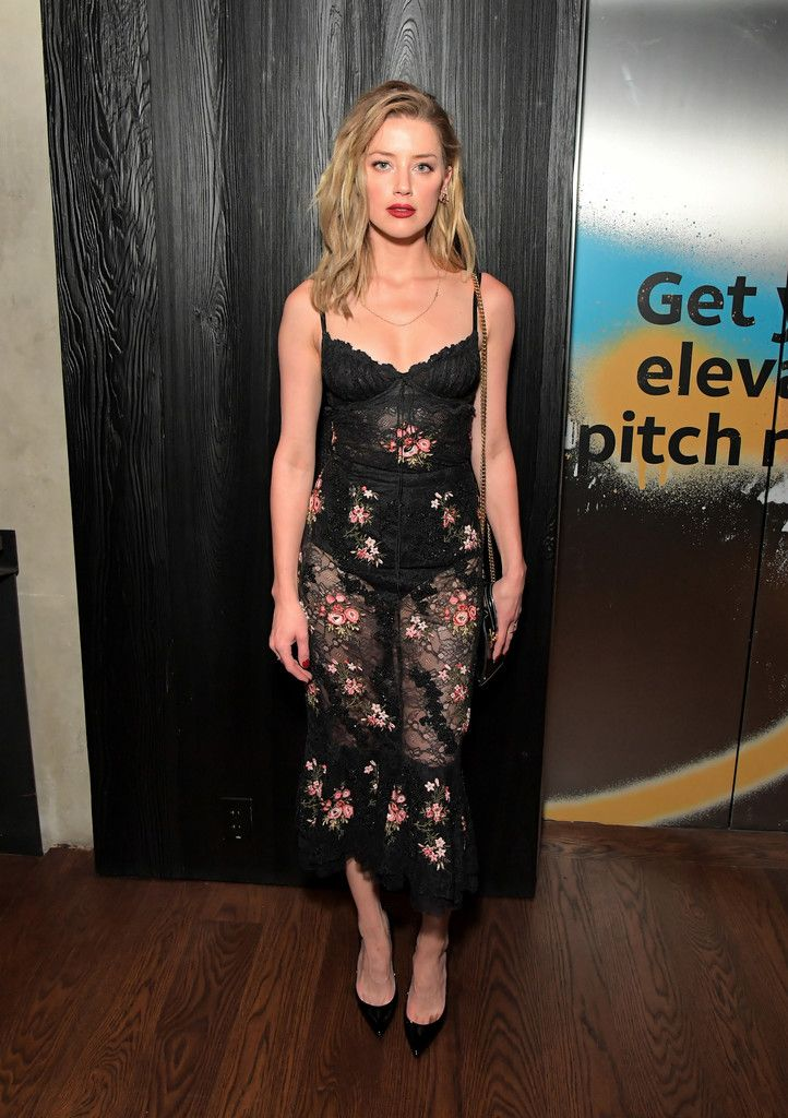 Amber Heard Photos Photos Directv House Presented By At T Day 2 Amber Heard Style Sheer Lace Dress Red Lace Dress