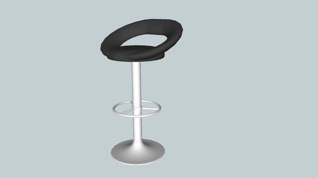 Large preview of 3D Model of Tabouret de bar Jeremy de chez Fly