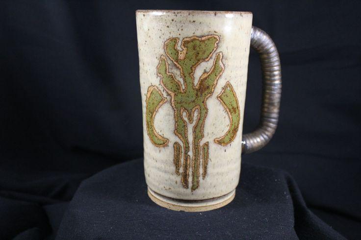Star wars Mandalorian handmade mug #1127 by SaltyEarthPottery on Etsy