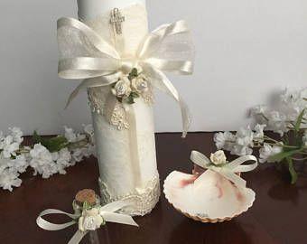 Las 25 mejores ideas sobre velas para bautizo en pinterest - Decoracion de velas para bautizo ...