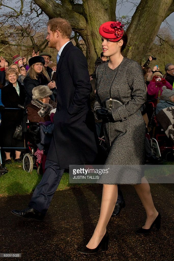Very classy. Princess Eugenie arrives to attend a Christmas Day church service at St Mary Magdalene Church in Sandringham, Norfolk, eastern England on December 25, 2016.