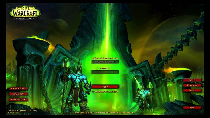 awesome World of Warcraft: Legion Login Screen and Legion Music