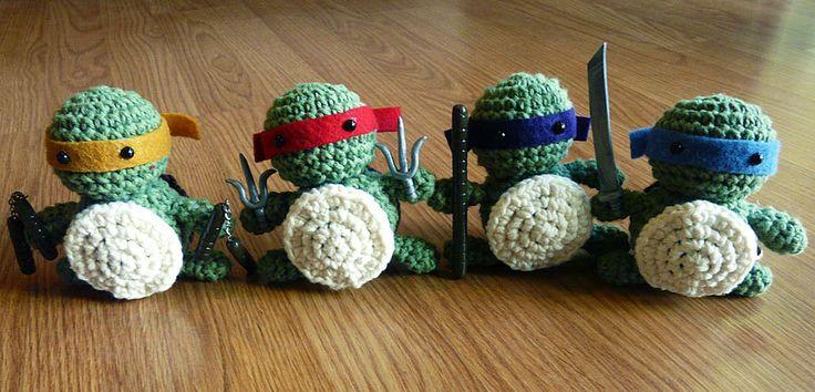 Ninja Turtle Crochet Amigurumi : Teenage Mutant Ninja Turtles Crochet Amigurumi ---- PDF ...