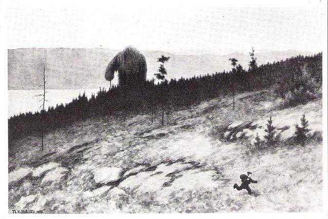 Theodor Kittelsen - Troll On The Mountain Moores by Aeron Alfrey, via Flickr