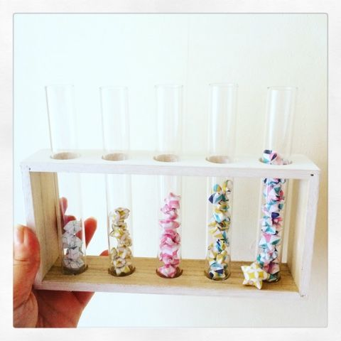 DIY Déco tube à essai et origami | La Fabrique Éclectique