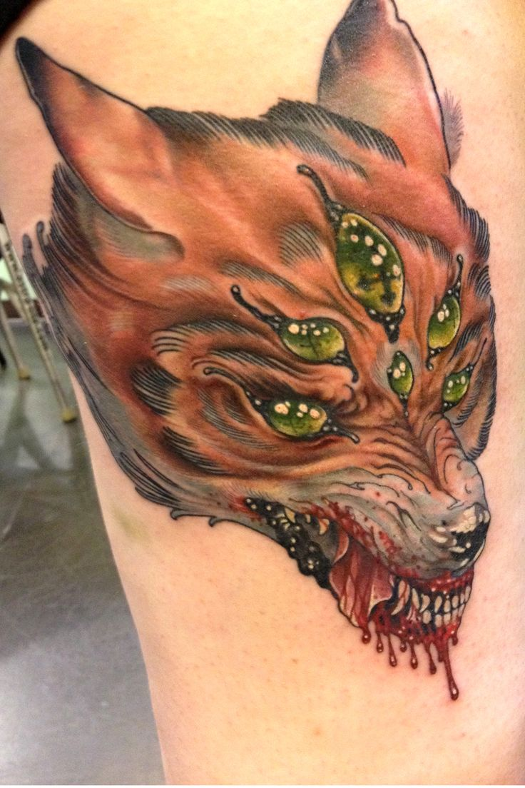 If you decide to get a tattoo look at the image of a fox this animal - Greg Whitehead Animal Tattoos So Cool
