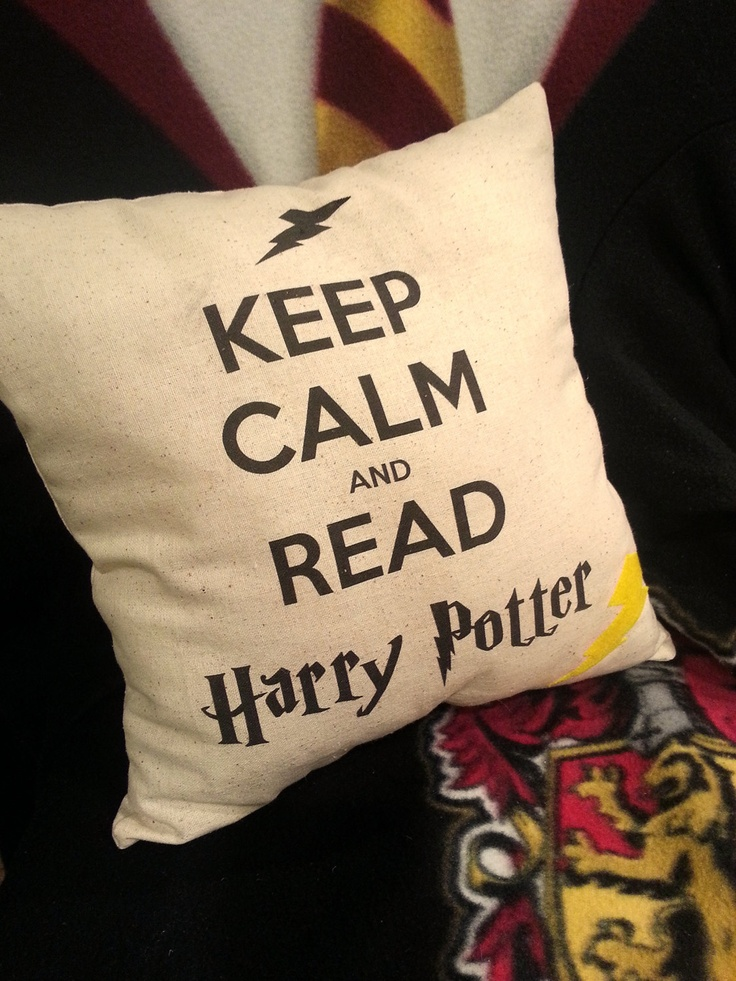 Keep Calm and Read Harry Potter Pillow