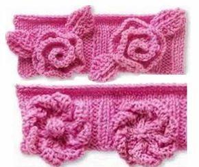 Объемные цветы, связанные спицами, пригодятся для украшения различных трикотажных изделий. Розы: Набрать 10 петель. 1 ряд. (лиц. сторона): все лицевые петли 2 ряд и все четные ряды: изнаночные петли…