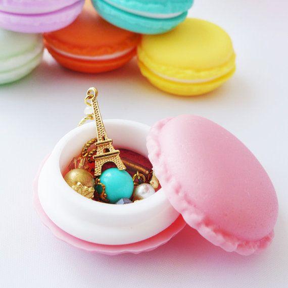 Mini französische Macaron-Stitch Marker Halter - niedlich-Speicher für Strickereien und Crocheters - sechs Farben erhältlich!