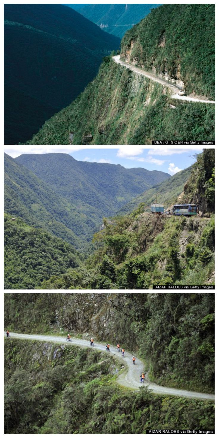 North Yungas Road in Bolivia is a hot spot for adventurous cyclists