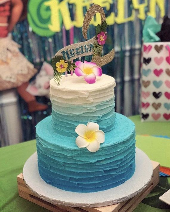 Moana Inspired Cake Topper In 2019