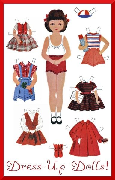 I spent a lot of time playing with paper dolls! I dont see paper dolls anymore.