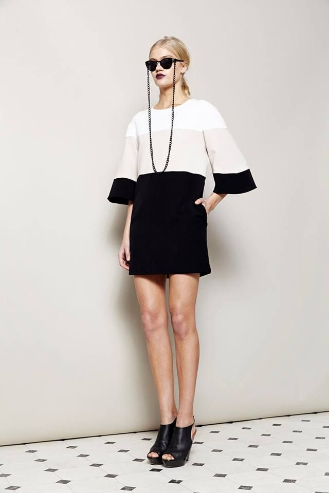 Architrave Bell Sleeve Shift Dress