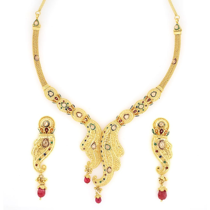 If you want to go with latest fashion of Polki Jewellery,  you have large option to find our eye-catching  Kundan Product,