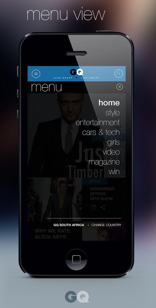 GQ ios 7 app design