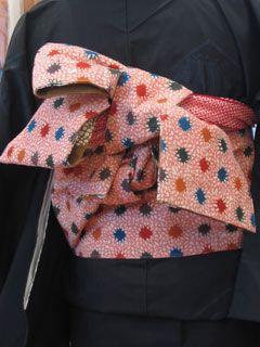 帯結び・飾り帯■半巾帯の結び方 ■■その12■小春花結び(三本紐を使った半巾帯結び) ■こだわりの手しごと-三春
