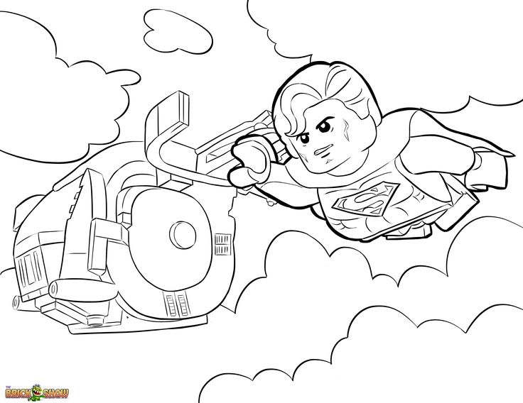 The LEGO Movie Coloring Page, LEGO Superman Printable Color Sheet