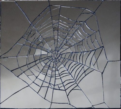 spiderweb mirror glass tiles