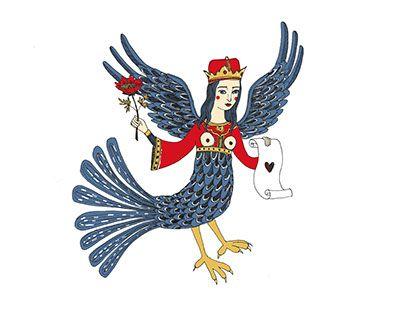 Russian Paradise's Bird. Siren. Vera Lazzarini