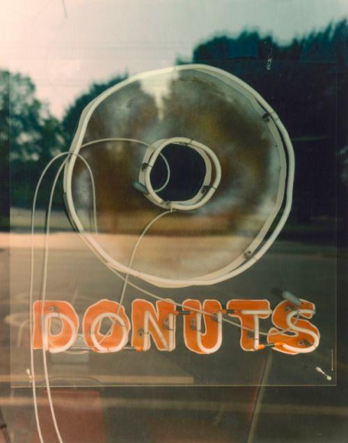 Donut Store Window Detail, US 71B, Springdale, AR, Photo © Jim Dow