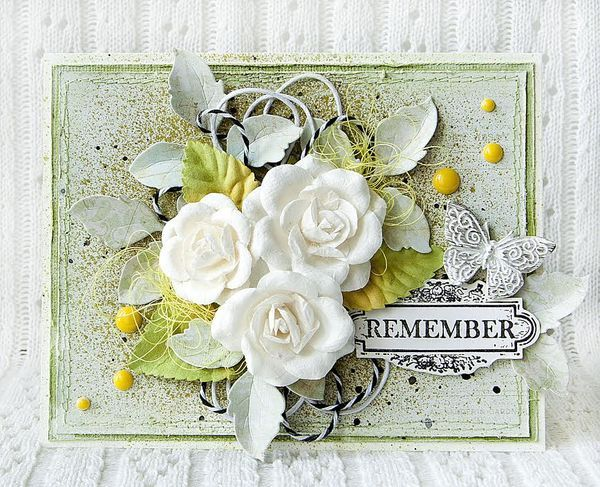 Beautiful! Olga Vasilieva created this card using Prima's Princess and Something Blue collections.