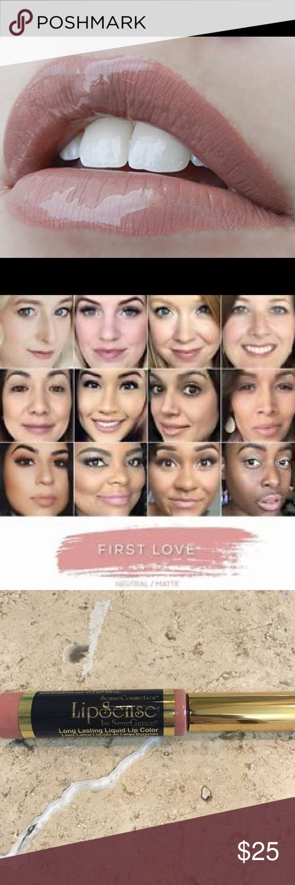 Lipsense FIRST LOVE 18 Hour Lipcolor IN STOCK! Brand new, sealed! First Love is THE hottest pinky nude of the collection!  The premier product of Senegence, LipSense lasts all day – up to 18 hours. It is water-proof, kiss-proof, smudge-proof, and completely budge-proof. LipSense comes in a variety of captivating colors and can be layered to produce your own custom look.  Must be worn with a Lipsense gloss.Brand new, sealed!  COMMENT BELOW WITH YOUR EMAIL TO GET DISCOUNT INFORMATION, I…