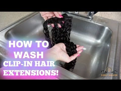 Best 25 hair extension care ideas on pinterest oily hair how to wash clip in hair extensions curly hair curly heaven youtube pmusecretfo Images