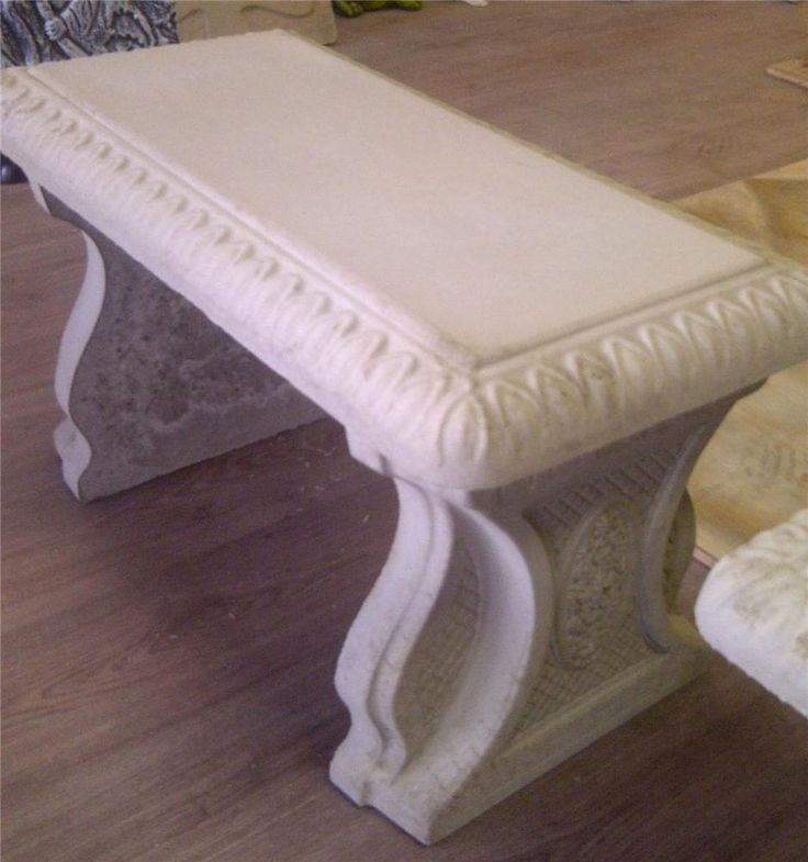 Cement Bench Molds : Best images about molds on pinterest bench with back
