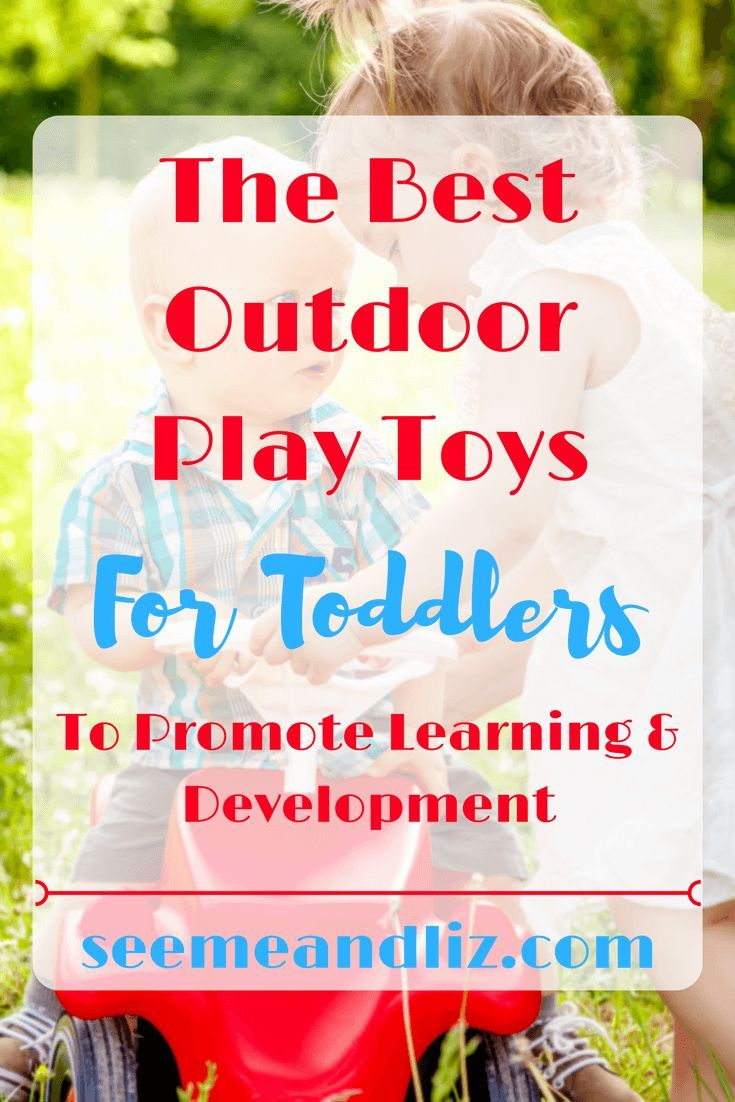 Find out why these 7 outdoor play toys for toddlers are perfect for skill development and learning through play! #kidstoys #learningthroughplay #toddlers