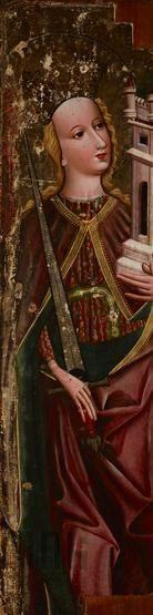 Św. Barbara z okolic Przemyśla, ok. 1470