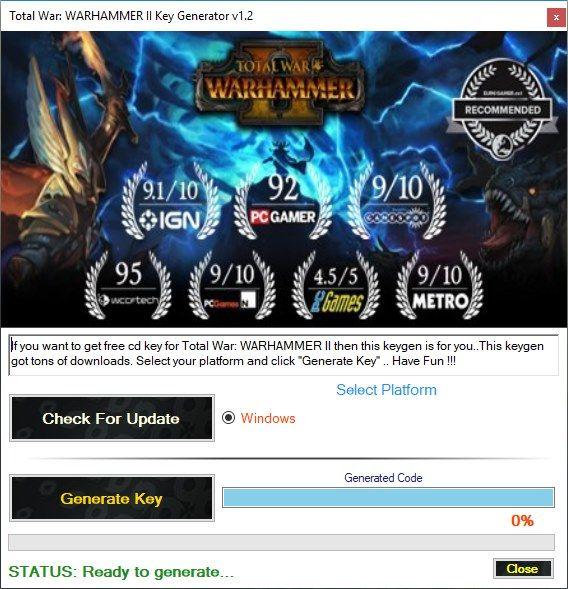 Total War WARHAMMER II Key Generator v1 2 | Free Game