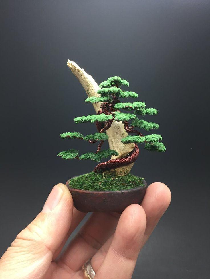 Wire bonsai tree on wood by Ken To by KenToArt.deviantart.com on @DeviantArt