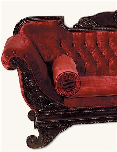 Gothic Victorian Crimson Red Velvet Cleopatra Sofa - Crying Eagle .