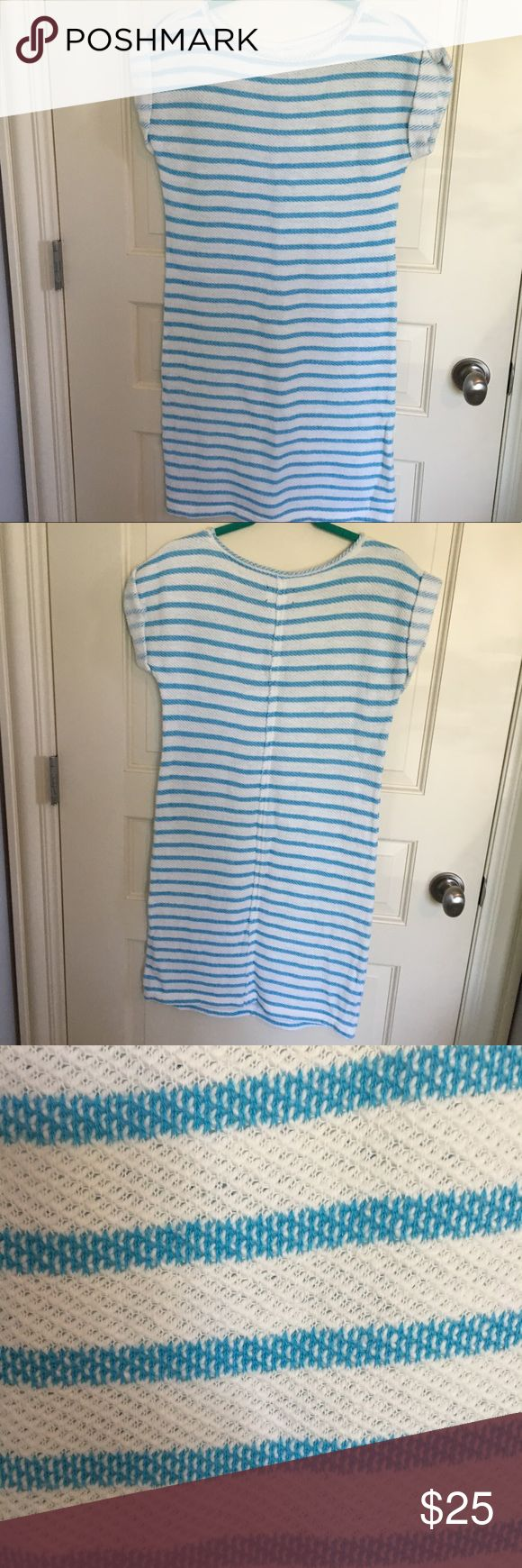 Lou & Grey blue and white striped dress XS Lou & Grey dress. The softest and most comfortable dress ever!! Perfect for the beach or any warm fall day. Lou & Grey Dresses