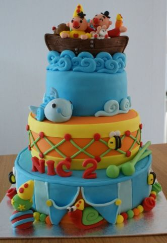 boat and fish cake - childs birthday