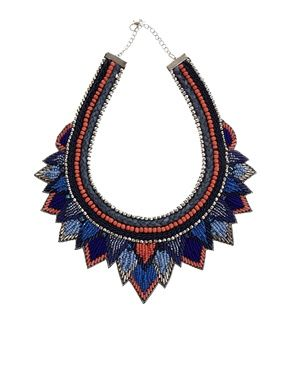 ASOS Layered Triangle Bib Necklace