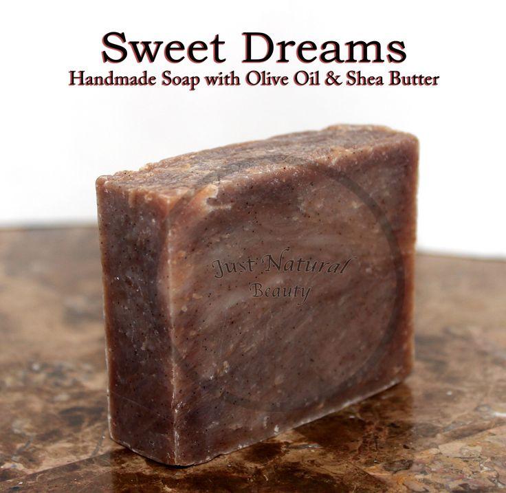 Sweet Dreams (vegan) Soap: INGREDIENTS: Olive Oil, Water, Coconut Oil, Sodium Hydroxide, Organic Palm Oil, Organic Sunflower Oil, Shea Butter, Lavender Essential Oil, (Natural) Fragrance, Vanilla Bean Powder.