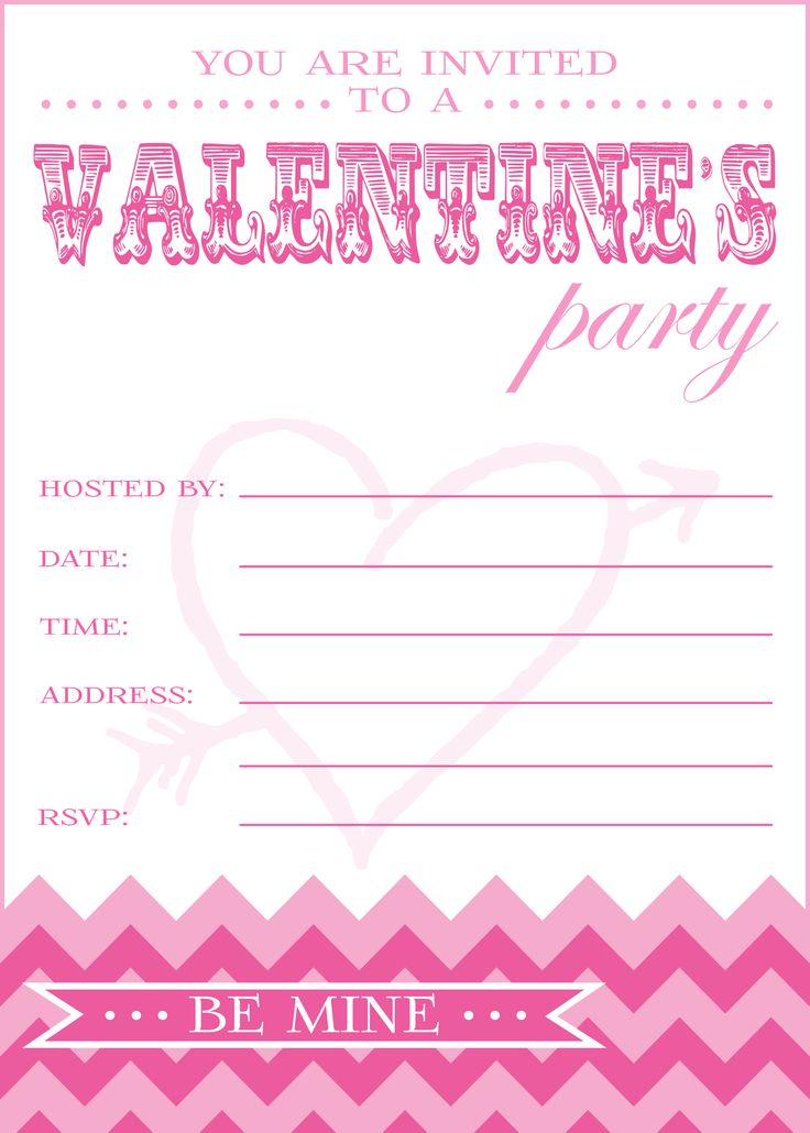 26 best Party invites images on Pinterest | Valentine party ...
