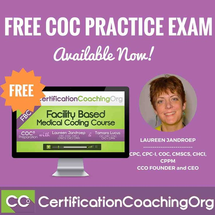 FREE COC Practice Exam - GET IT NOW!  Laureen: This is where we wanted to announce that, thank you. Ruth Sheets, who is on our team, works very hard at creating our mock board exams. She's finished the first COC practice exam and the first one is free! So, if you're