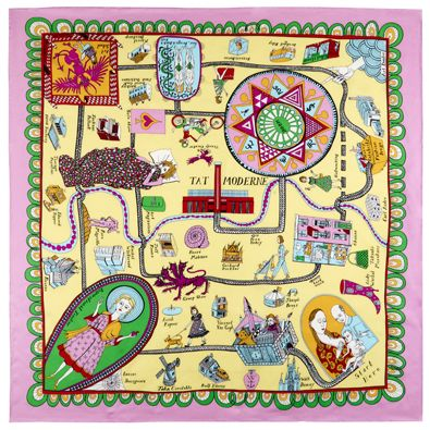"Grayson Perry Silk Scarf saw this at the exhibition "" Tomb of the Unknown Craftsman"""