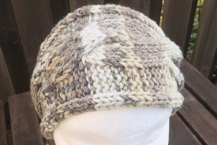 Earwarmer knitted in lovely mult-tonal cotton, wool and acrylic yarn. This can be machine washed at delicate cycle