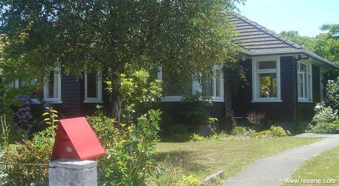 Resene Bokara Greyon house exterior