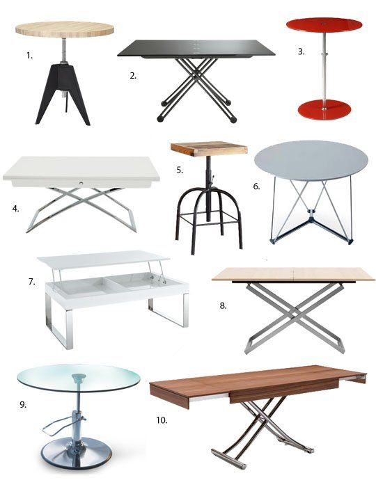 Best Height Adjustable Tables 2013 Apartment Therapy's Annual Guide