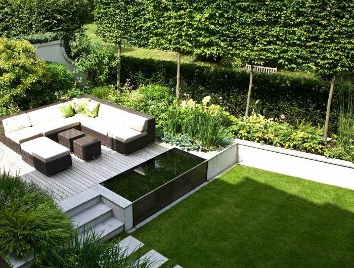 le jardin paysager tendance moderne de jardinage petit bassin jardin paysager. Black Bedroom Furniture Sets. Home Design Ideas