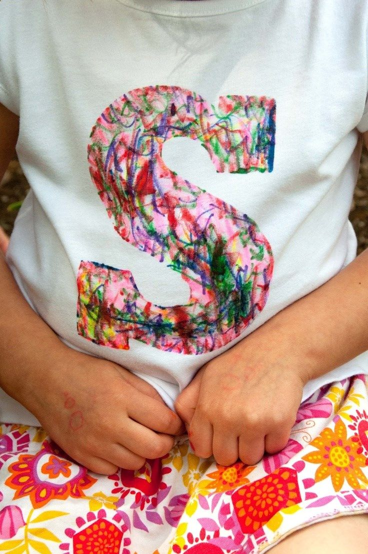 Design your own t-shirt craft - Personalized Scribble Shirts These Would Be Great Activity For A Kids Party