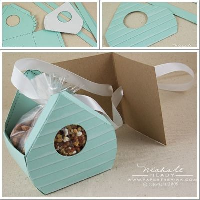 DIY: FREE printable gift boxes Change it to look like a dog house?