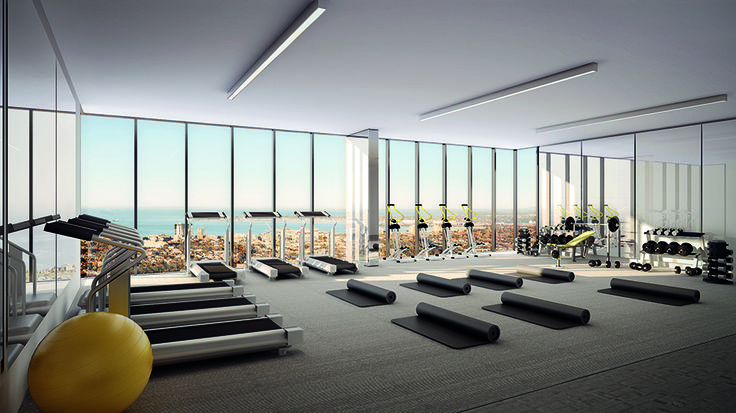 Salvo Property Group looks after the well being of all its residents, that is why fully equipped gyms are always part of the developments.